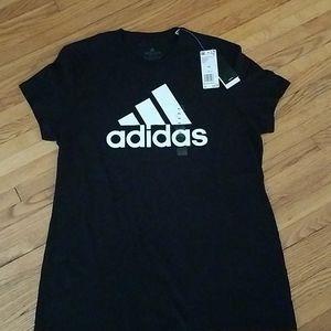 Adidas Black and White Shortsleeve Tee